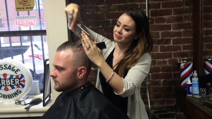 Christina Barrett-MacKinnon thinks men only care about a good haircut at the end of the day.