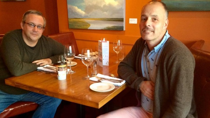 Michael Stack (L), Chives' food Media man/ food lover, and George Davis (R)