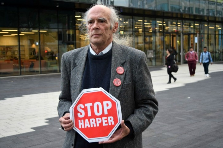 Bezanson outside the Halifax Central Library, October 6.