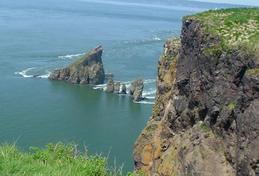 The cliffs at Cape Split in King's County, Nova Scotia