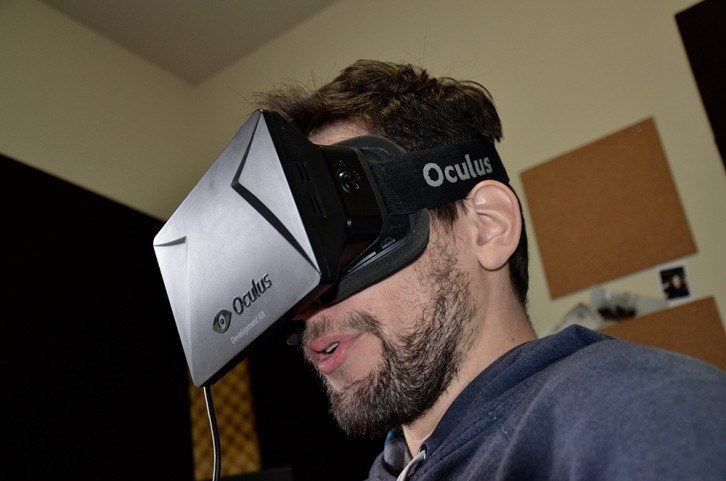 The Oculus Rift Development Kit (DK1) was a prototype available to developers of virtual reality content.