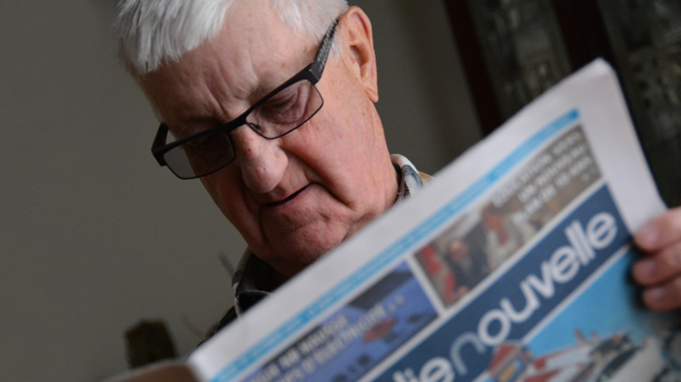 Maurice Mourant founded Acadie Nouvelle. Thirty years later, he's still enjoying the paper.