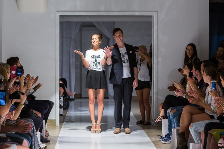 Kayley Reed and Kyle MacNevin at the New York Fashion Show.