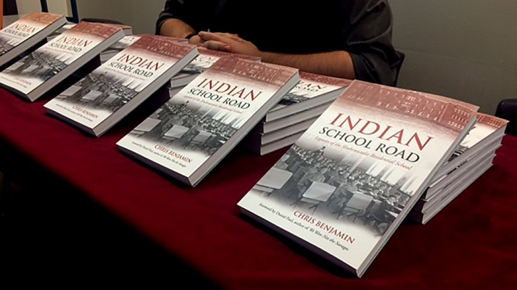 Copies of Indian School Road were available to purchase at Benjamin's talk.