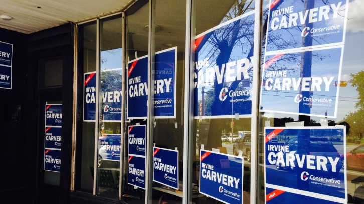 Carvery's campaign office on Robie St