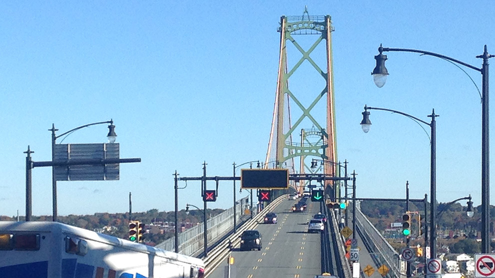 The Macdonald Bridge closes on weekends and weekdays after 7:00 p.m.