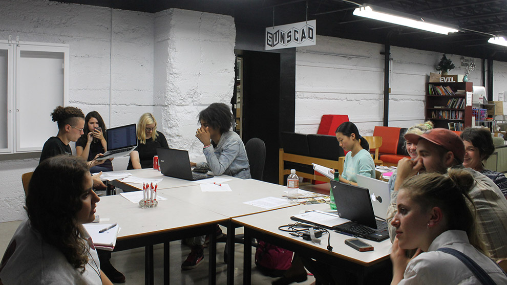 Student Union of NSCAD University (SUNSCAD) meets for the first time this school year.