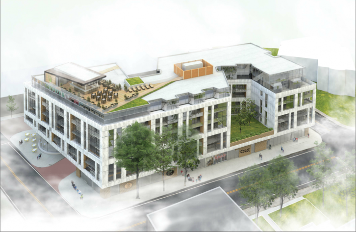Portrayal of what the new Boutique Hotel will look like on Spring Garden rd.