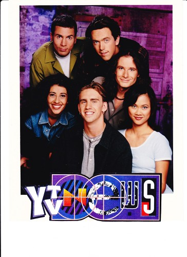 The cast members of YTV News pose for a 1994 promotional photo.