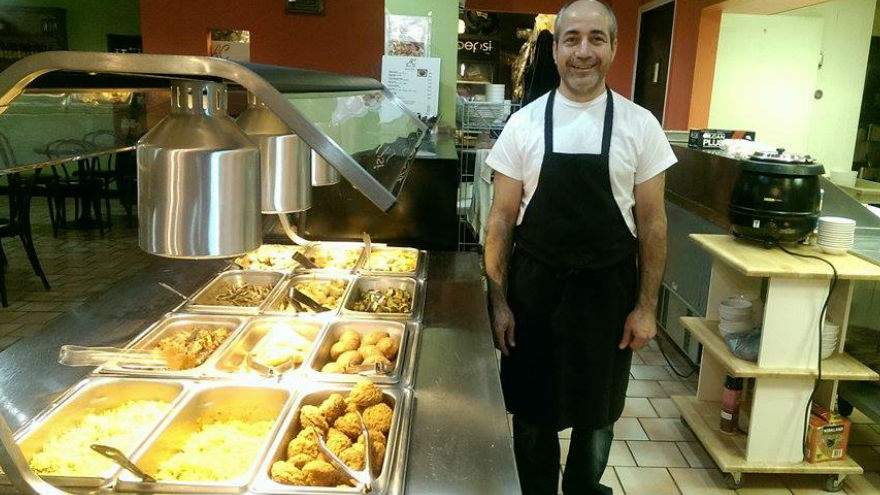 Abdulrahman Jabi, co-owner and chef of Aleppo Cafe on 1496 Water Street. Jabi uses traditional Aleppian ingredients and makes handmade spices.