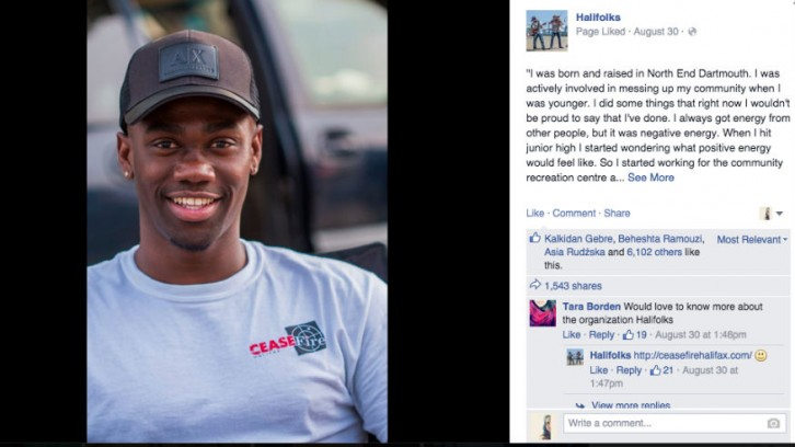 Carols Beals says he was 'shocked' with the positive response his Halifolks post got.