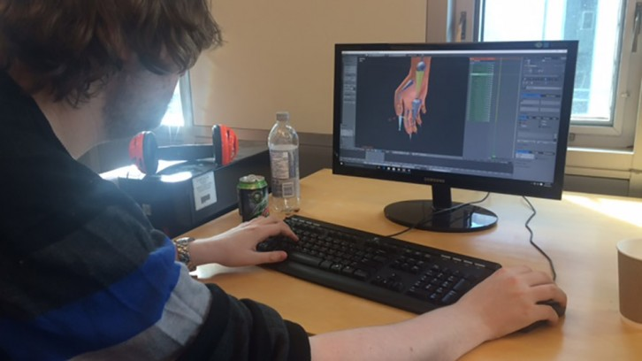 Mitchell Maclellan was one of the students creating a video game at the Game Jam.