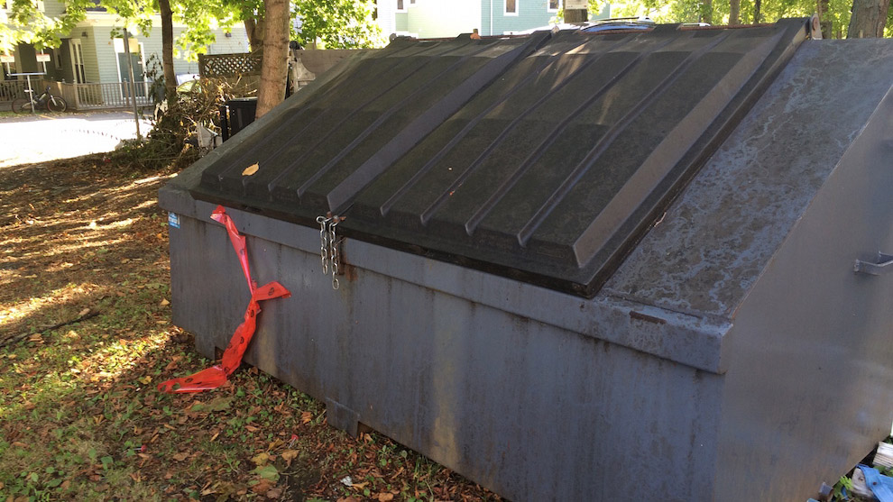 All outdoor dumpsters will be removed from Dalhousie's Halifax campuses in the coming weeks.