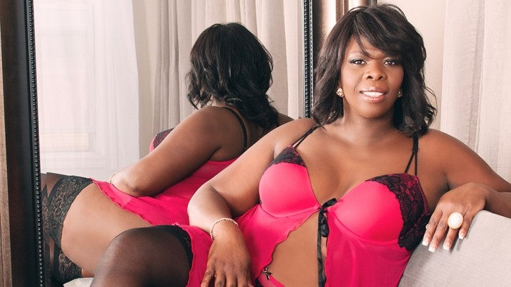 Plus-sized model Paulette Lewis Jackson.