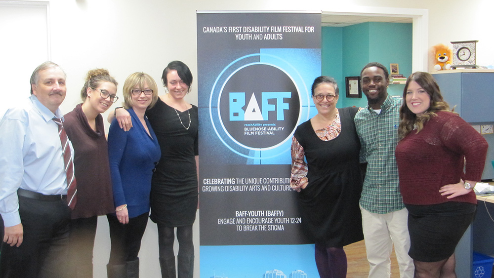 Reachability Association Staff that was working in the Blue Nose-Ability Film Festival