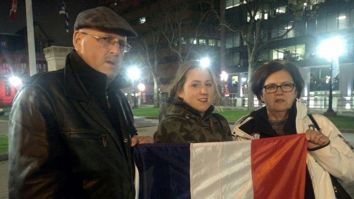 The Alexandrowicz family came to show support for their family members in Paris.
