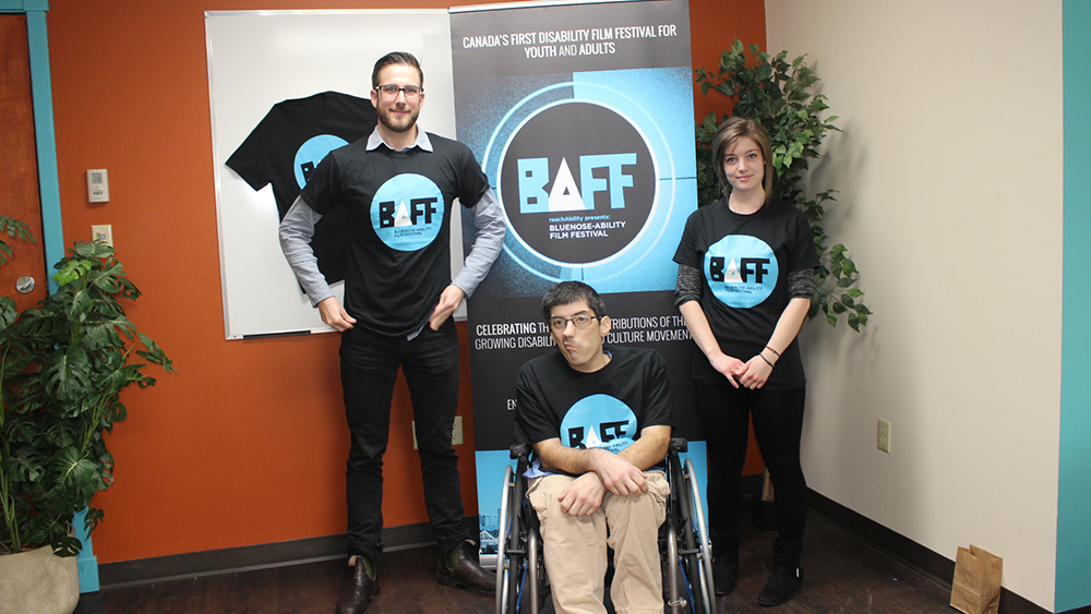Ryan Butt, Andrew Taylor, and Christian McCuaig at the press conference for BAFF