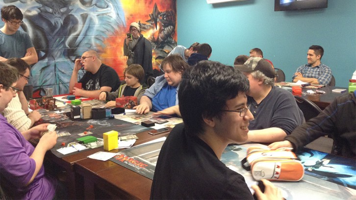 Players enjoying a round of Magic.