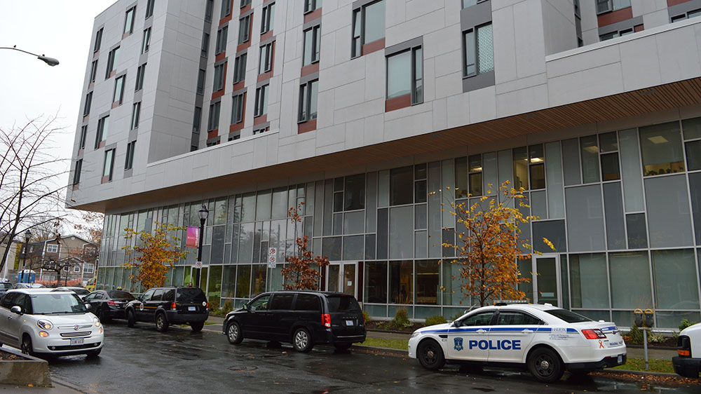 A student died at the Lemarchant residence on Dalhousie campus this morning