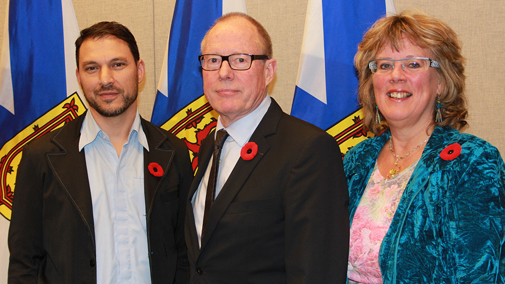 Left to Right: Scott Simpson, Bill Niven, and Jan Miller represent Screen Nova Scotia.