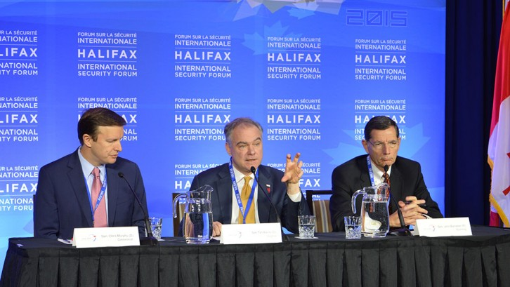 (Left to Right) Senators Chris Murphy, Time Kaine and John Barrasso served as members of the United States congressional delegation to the forum.