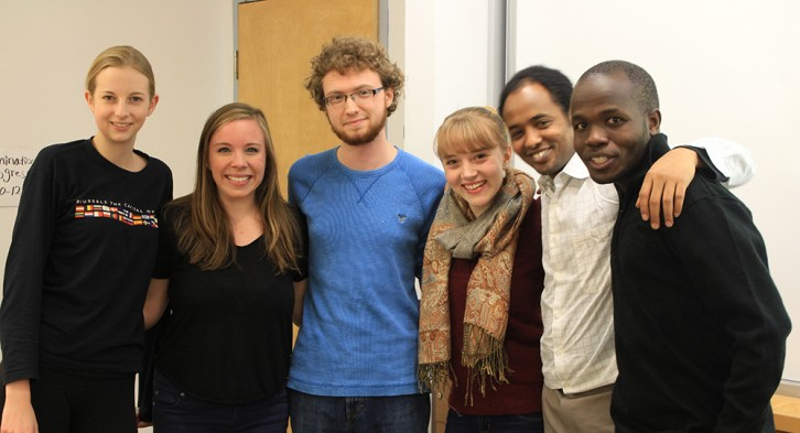 Members of WUSC Dalhousie at a meeting in November.