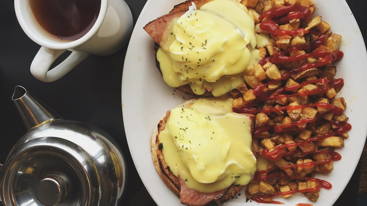 Eggs Benedict served up at Nena's Breakfast House.