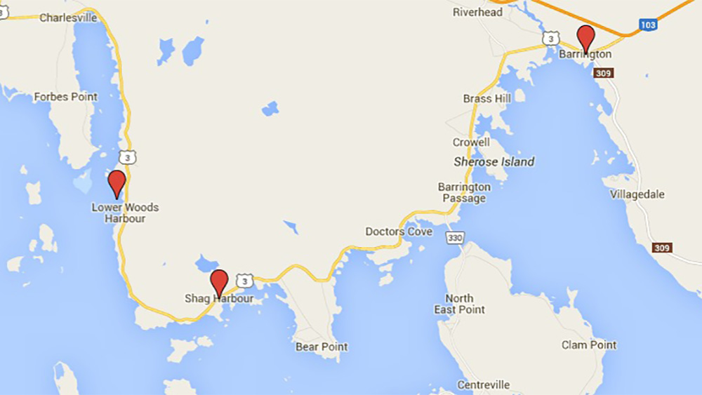 The incident happened in Woods Harbour at 9:00 a.m. on Monday.