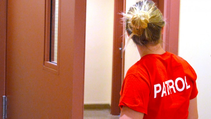 Patrol members regularly check in on residences.