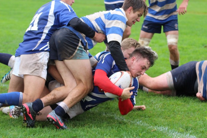 The University of King's College rugby team in action.