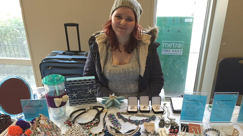 Miranda Frison is selling jewelry at her shop Sea Blue Jewelry at the Dal SUB.