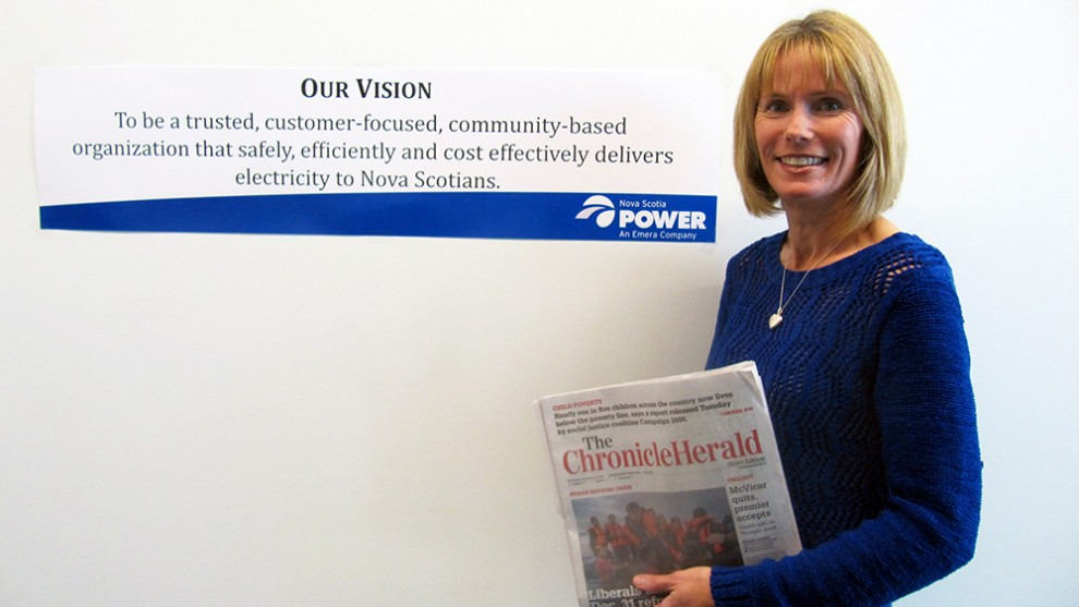 """As a journalist, you want an issue to be clear and accurate,"" says Bev Ware, Nova Scotia Power spokesperson and former Chronicle Herald reporter, ""and as a communications officer you want the customers to understand what is happening."""