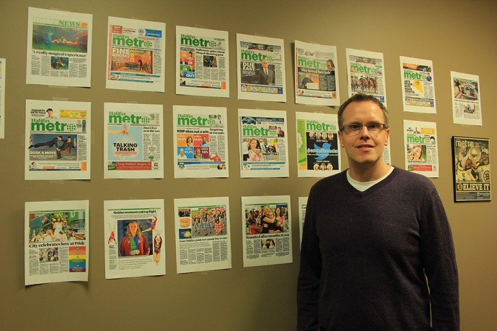 Managing Editor, Philip Croucher, beside his favourite Metro Halifax articles.