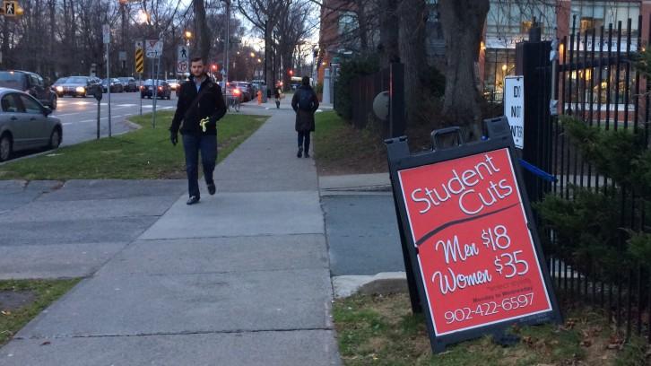 .blu salon downtown Halifax displays gender price gap