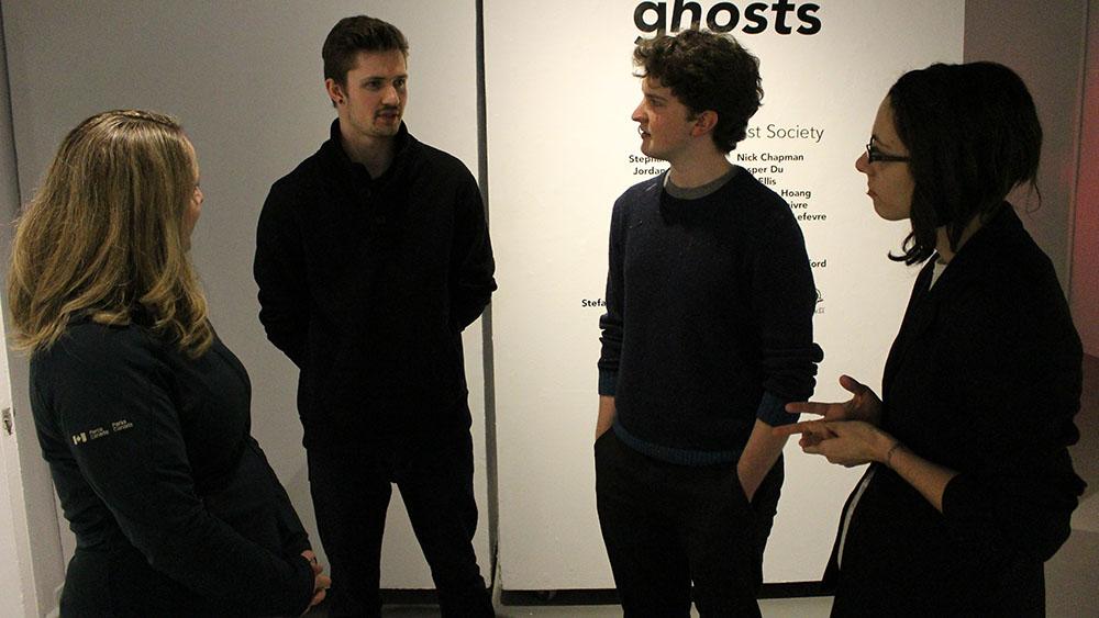 NSCAD students prepare to open their art exhibit in Halifax.