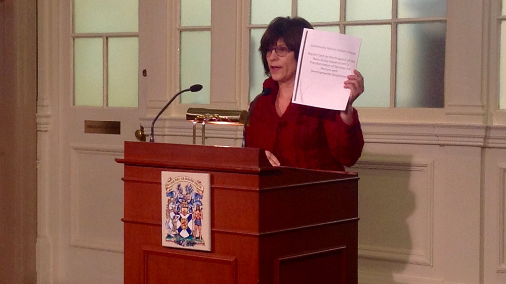 Dr. Paula Hutchinson presented the survey findings at Province House on Thursday.