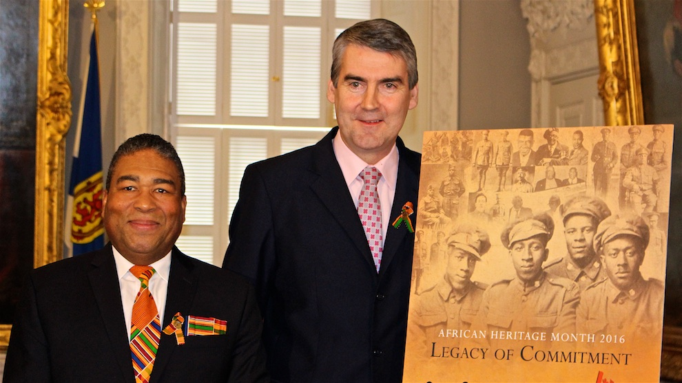 From left to right: Minister of African Nova Scotian Affairs, Tony Ince, and Premier Stephen McNeil.