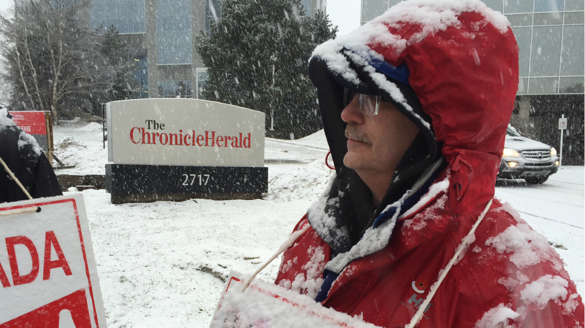 """Herald is in my heart now,"" said Tom McCoag , who has worked at the Chronicle Herald for 33 years. Photo: Lisa Takagi"