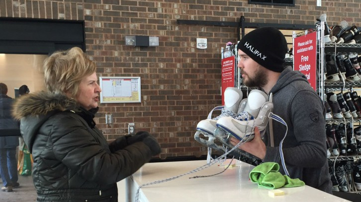 Halifax residents can borrow skates for free at the pavilion.