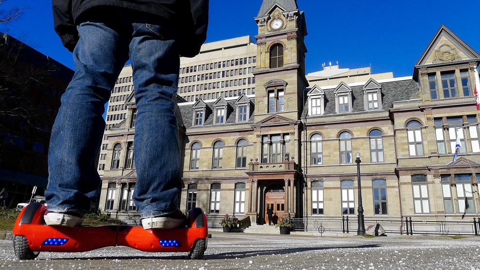 Hoverboarding in Halifax is a current grey area