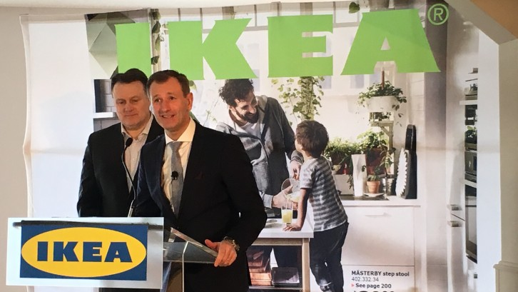 IKEA president and Halifax mayor announce the news.