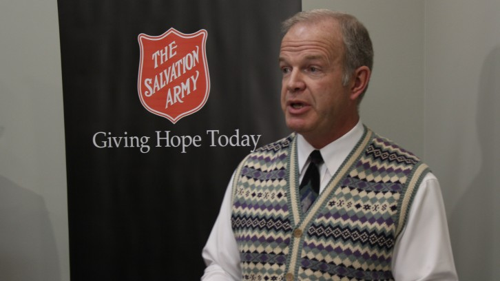Service Nova Scotia Minister Mark Furey at Salvation Army Maritime Divisional Headquarters