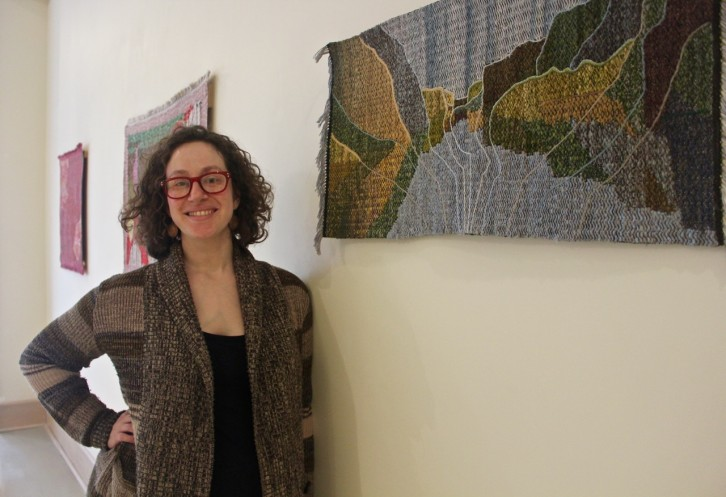 Rilla Marshall preparing for her show The Liminal Project.