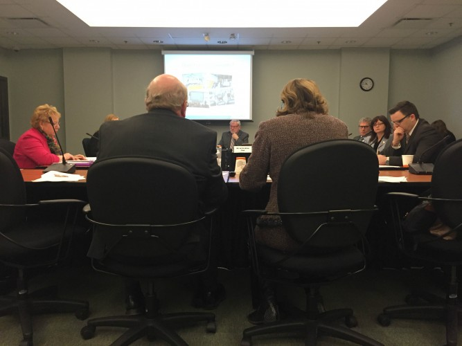 Duff Montgomerie and Ava Czapalay make the case for the Sandbox Project to the Human Resources Committee