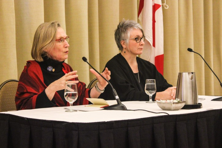 Ministers Carolyn Bennett and Patty Hajdu discuss the pre-inquiry consultations in Halifax.