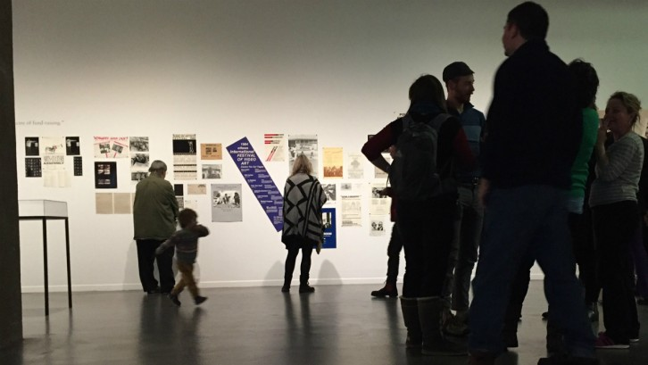 Students, artists and people from gallery gathered at Dalhousie Art Gallery on Jan. 21 for the opening party.