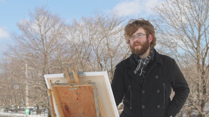 Alex King never paints from a photo, even if it means standing in the cold for hours.