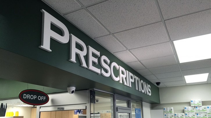 The prescriptions desk at the Nova Pharmacy on Coburg Rd.