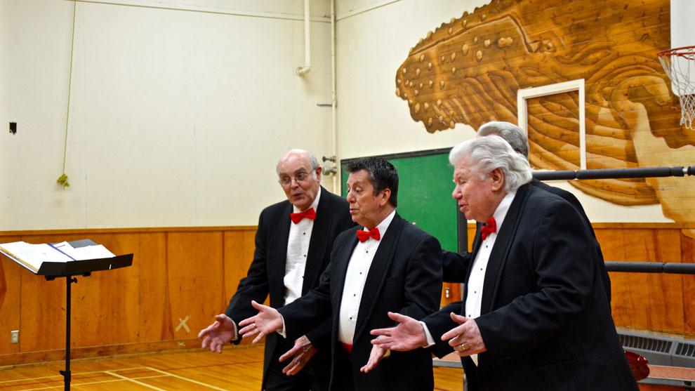 The Deacon Aires quartet,  Hugh Dickie, Raymond MacDonald, Fred Grainger and John Cordiner.