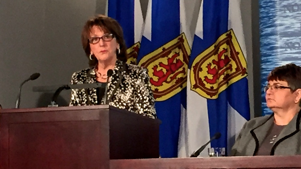 Education minister Karen Casey gives discusses annual report for Nova Scotia's Action Plan on Education